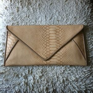 Snake Skin Envelope Clutch