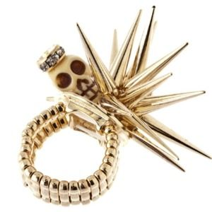 491202 Jewelry - Spike & Skull Ring