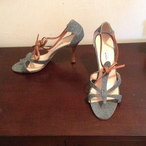 Denim heels by Manolo Blahnik