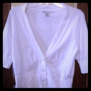 """Coldwater Creek Tops - •• SOLD •• White 3/4""""-sleeve dressy sweater"""
