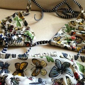 🌀reduced! J. Crew rare butterfly bikini