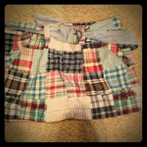 American Eagle Plaid Skirt with Belt. Size 0