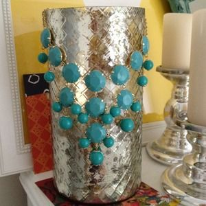 Accessories - Turquoise blue bauble necklace