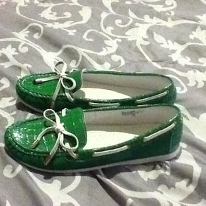 Shoes - Green loafers