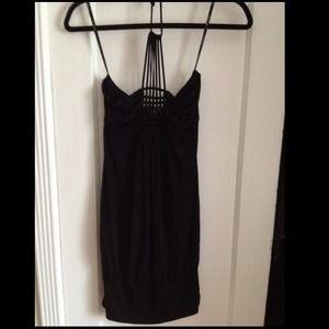 Bebe strappy tunic dress