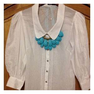 Dolce & Gabbana Tops - NWOT D&G sheer button-up blouse
