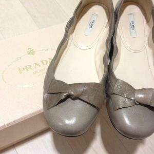 Prada Shoes - Prada bow flats