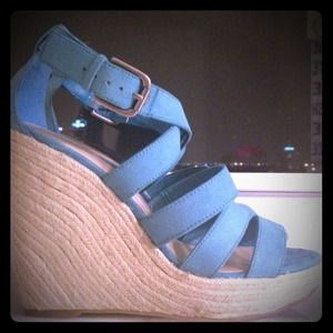 Shoes - Turquoise wedges