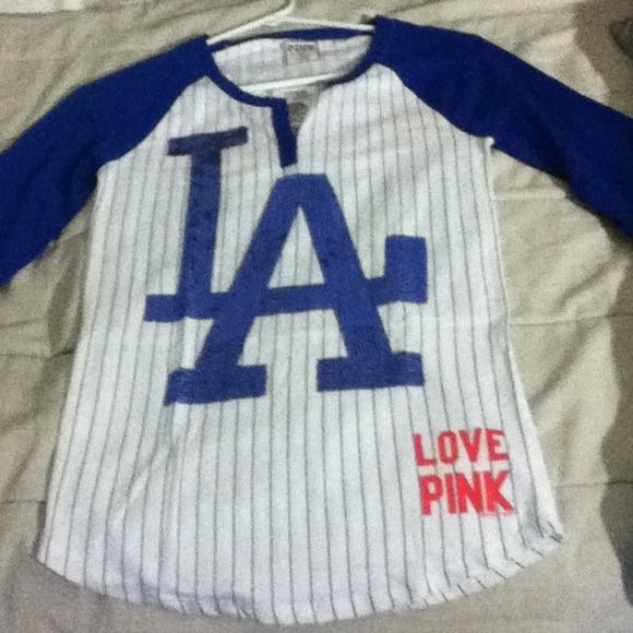 623e609e5af0f NWT Love Pink LA Dodgers Top