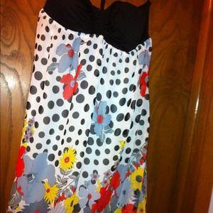 Dresses & Skirts - Floral & black dress :)