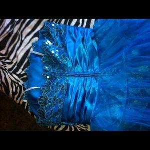 Dresses - blue sequin formal dress