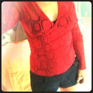 Tops - Red New York & Company top