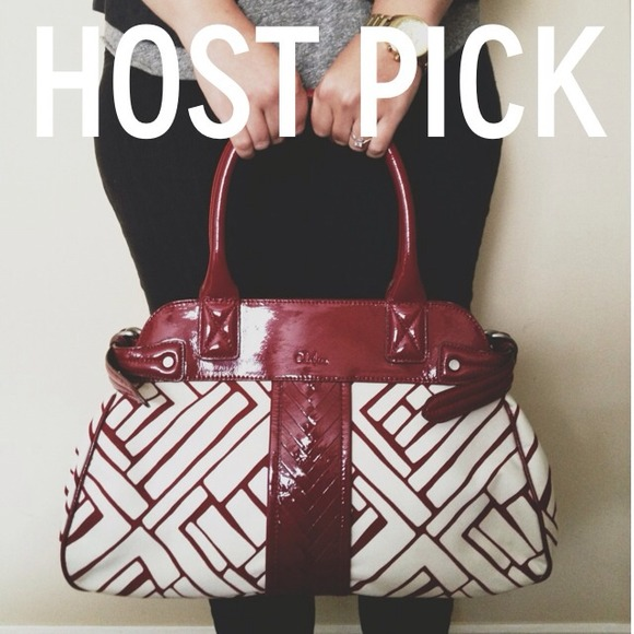 Cole Haan Bags - ⬇️FINAL REDUCTION⬇️ Cole Haan Red Graphic Handbag