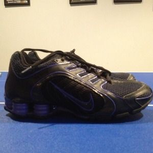 Nike Shoes - Reduced-Barely used purple glitter Nike shox