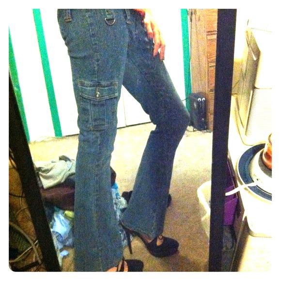 Zana Di Jeans Size 3 Bootleg Cargo Poshmark
