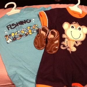 Tops - NWT Bundle of 2 Infant Rompers & Sandals!