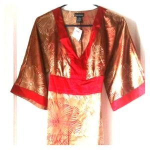 Charlotte Russe Dresses & Skirts - ✨GONE✨Charlotte Russe bronze/red kimono dress