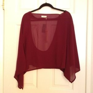 Tops - ❌ RESERVED ❌ 💙 NEW Maroon Chiffon Top 💙