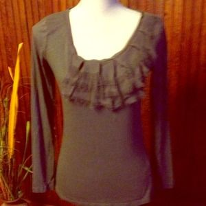 JUST REDUCED Gray ELLE Blouse