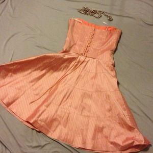 🌟Corset top striped dress