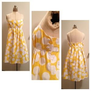 Dresses & Skirts - Bright yellow and white bubble print dress