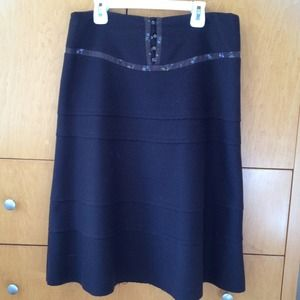Rebecca Taylor chocolate brown wool skirt
