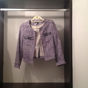 Navy & Purple Tweed Jacket