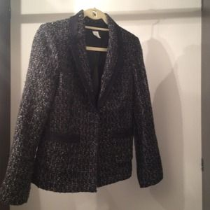 Green Navy and Black Tweed Blazer