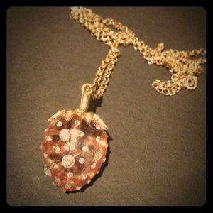 Jewelry - Jeweled blush pastel Strawberry pave necklace
