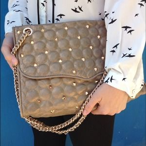 Rebecca Minkoff Handbags - Quilted Leather Studded Rebecca Minkoff