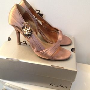 ALDO Shoes - Rose/taupe Satin heels from Aldo!