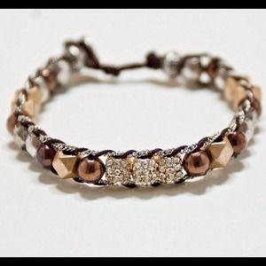 Mix metal bracelet.