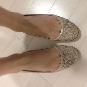 Valentino Shoes - Valentino nude laser cut flats
