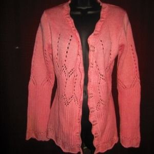 Sweaters - Powder Pink Knit Cardigan
