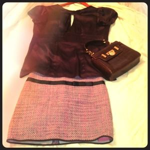 Symmetry Dresses & Skirts - Bundle***Tweed skirt & Cut out blk dress
