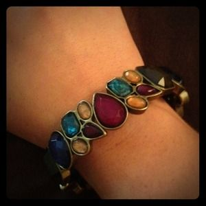 Multicolored rhinestone bracelet
