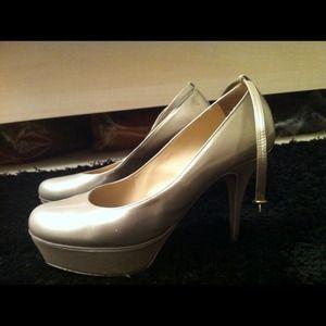 Authentic YSL cream/pearl heels