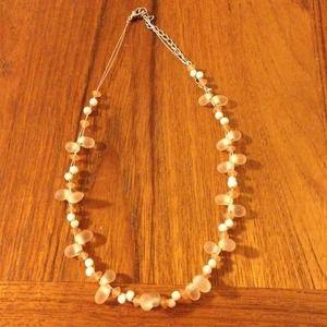 Jewelry - Peach Beaded Stone Adjustable Choker