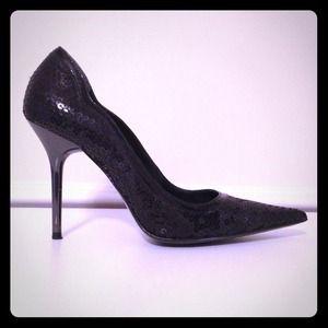 Aldo Black Sequin Stilettos