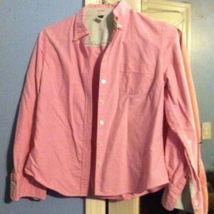 J. Crew pink button up