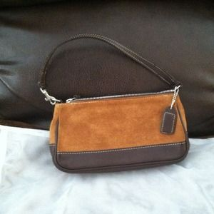 Authentic suede and leather Coach party bag