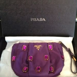 4fce84974a31 Prada Bags   Tessuto Pietre Gem Purple Wristlet Purse   Poshmark