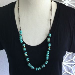 Jcrew necklace. Turquoise beads