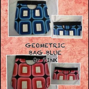 Handbags - Small NWOT Geometric Oversized Clutch Blue or Pink