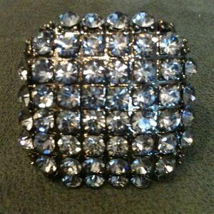💢REDUCED💢Black & silver square rhinestone ring💍