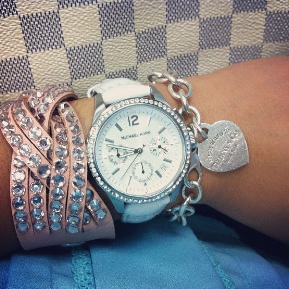 a0835713bcfe MK Embossed Genuine Leather Watch. M 504933caaf5ecc42270075e9
