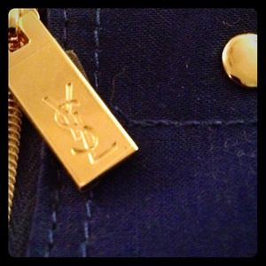 Yves Saint Laurent Accessories - ❌SOLD❌💙YSL COSMETIC BAG💙GOLD ZIPPERS/HARDWARE💙