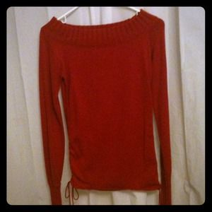 Sweaters - Beautiful red sweater cinches up in sides