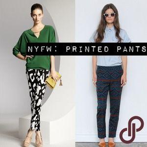 NYFW: printed pants rock runways