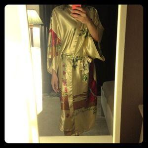 Outerwear - Satin Kimono Robe